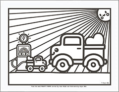 mighty moms coloring sheet pickup truck