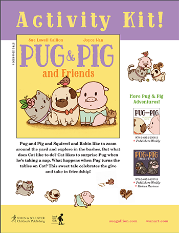 pug and pig and friends activity kit