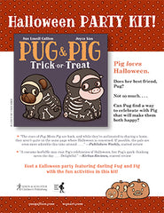pug and pig trick or treat halloween party kit