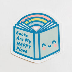 books happy place decal