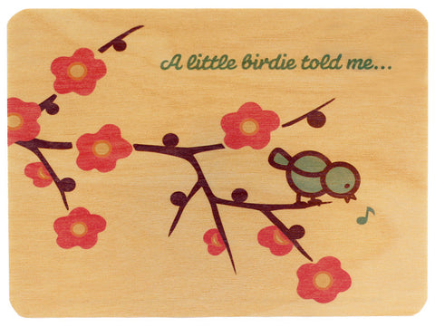 Little Birdie Wood Card