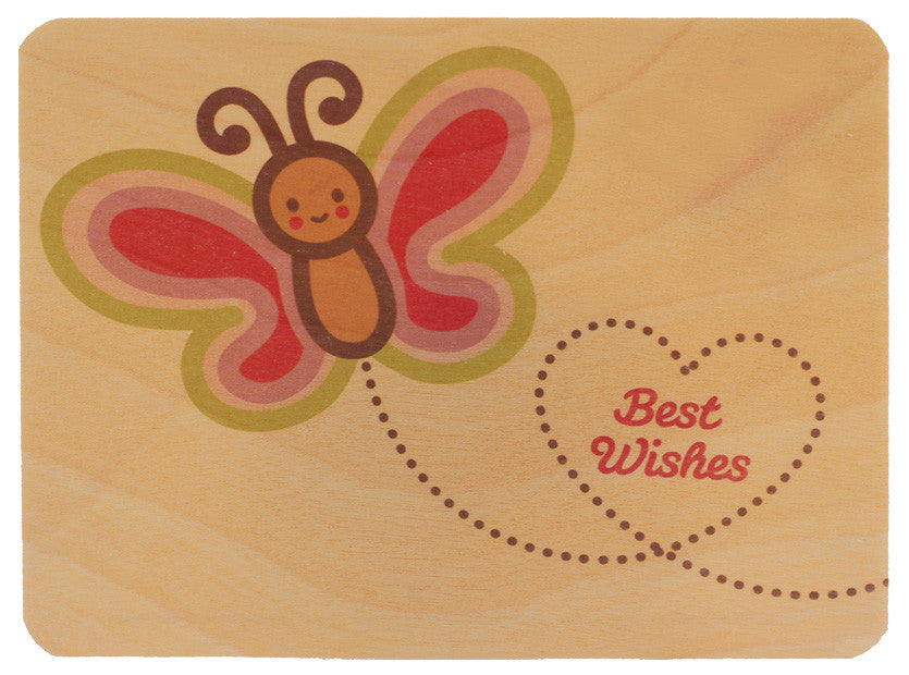 Butterfly Wood Card