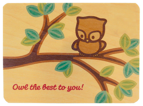 Owl Wood Card
