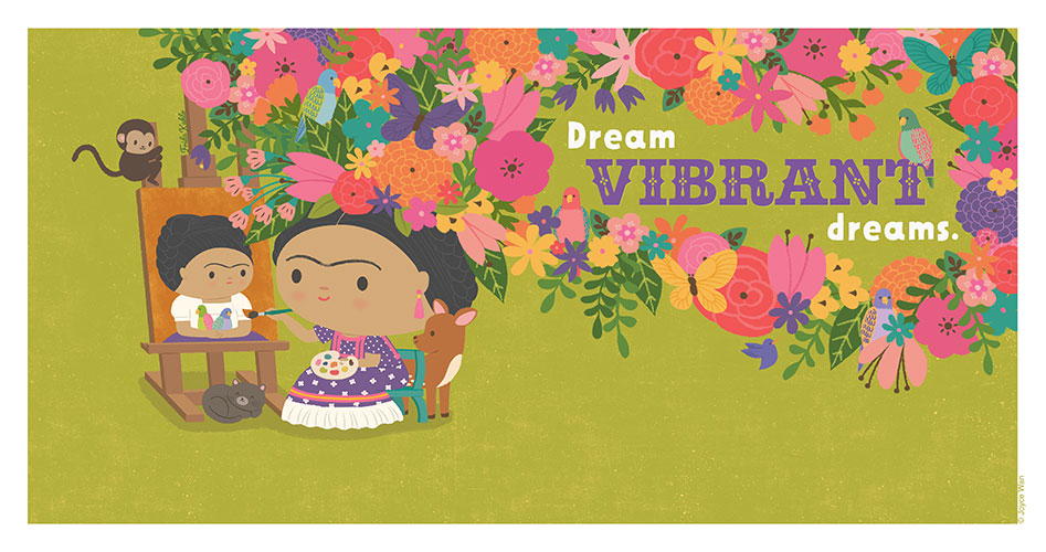 Print: Dream Big | Frida Kahlo