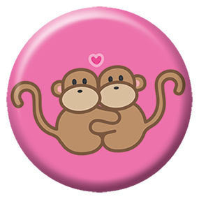 Hugging Monkeys Button