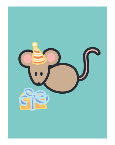 Mouse Birthday Card