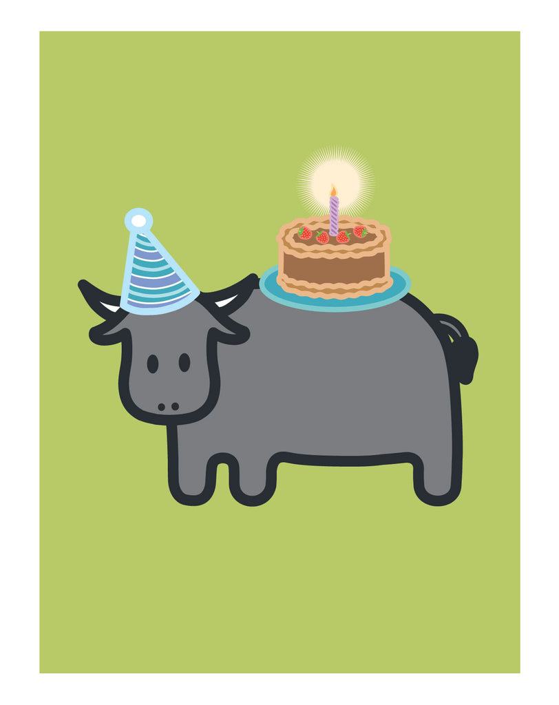 Ox Birthday Card