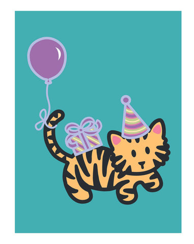 Tiger Birthday Card