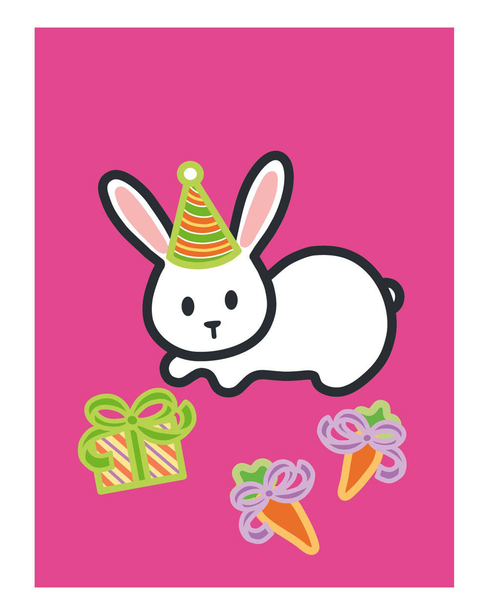 Hare rabbit Birthday Card PID241 Happy Birthday A5 Personalised Greeting Card