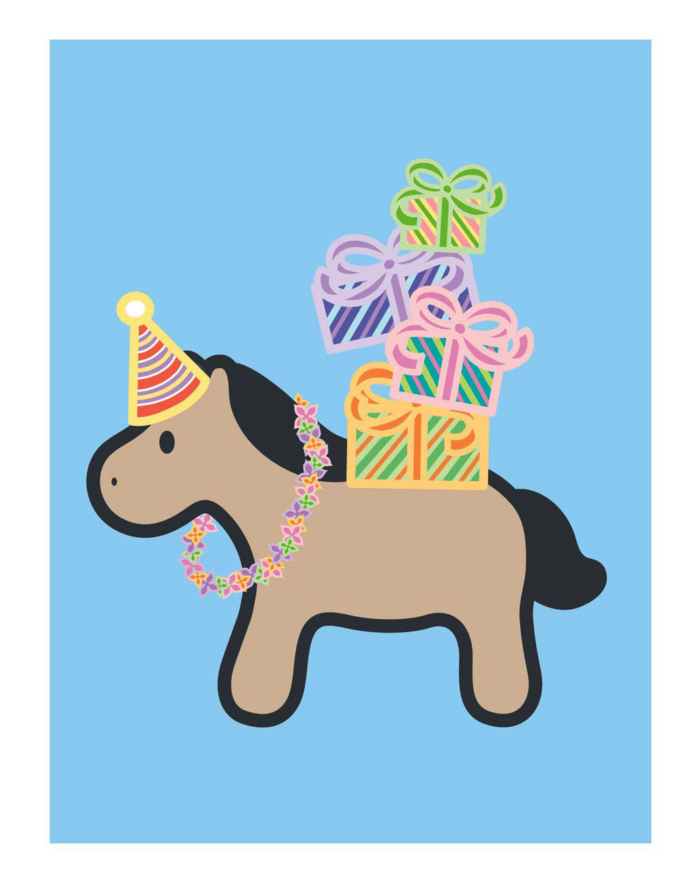 Horse Birthday Card Wanart