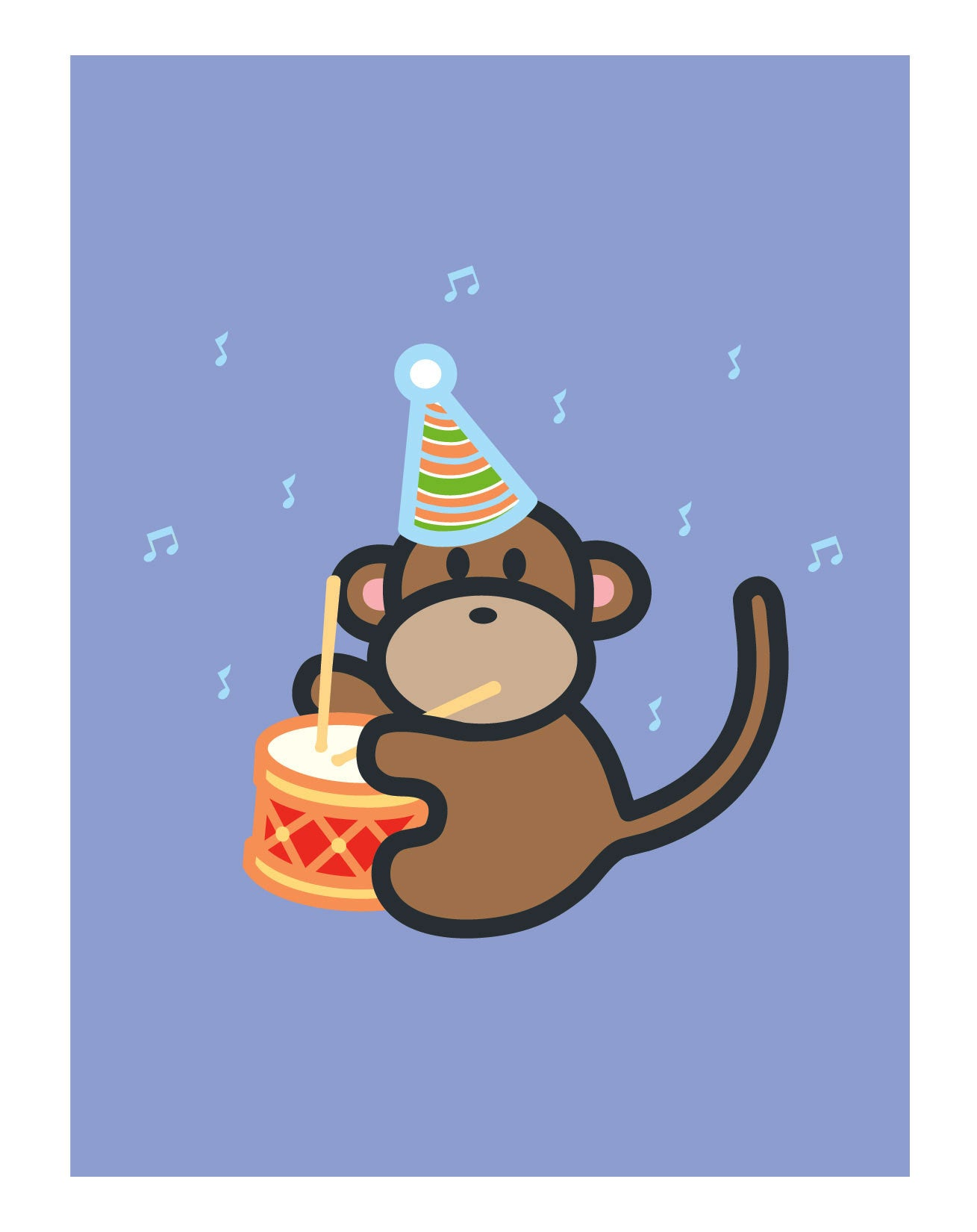Monkey Birthday Card Wanart