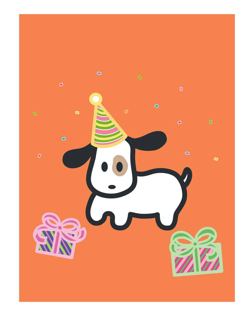 Dog Birthday Card Wanart
