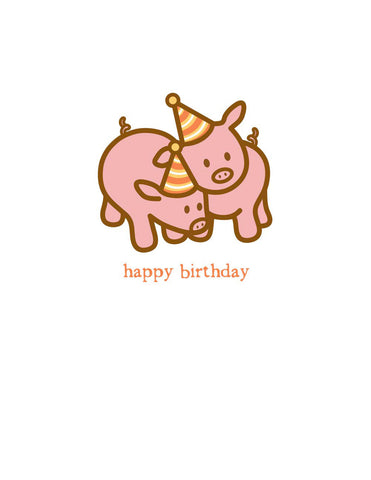 Hogs Birthday Card