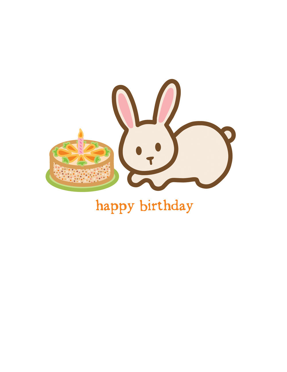 Rabbit Birthday Card Wanart