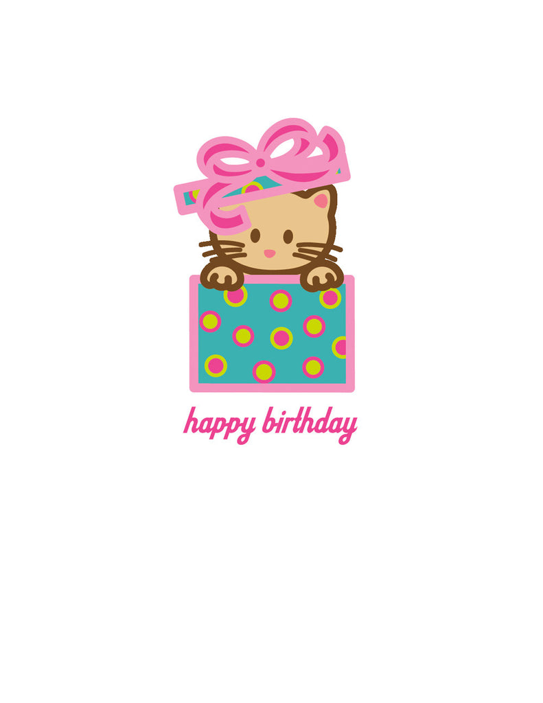 Kitty Birthday Card