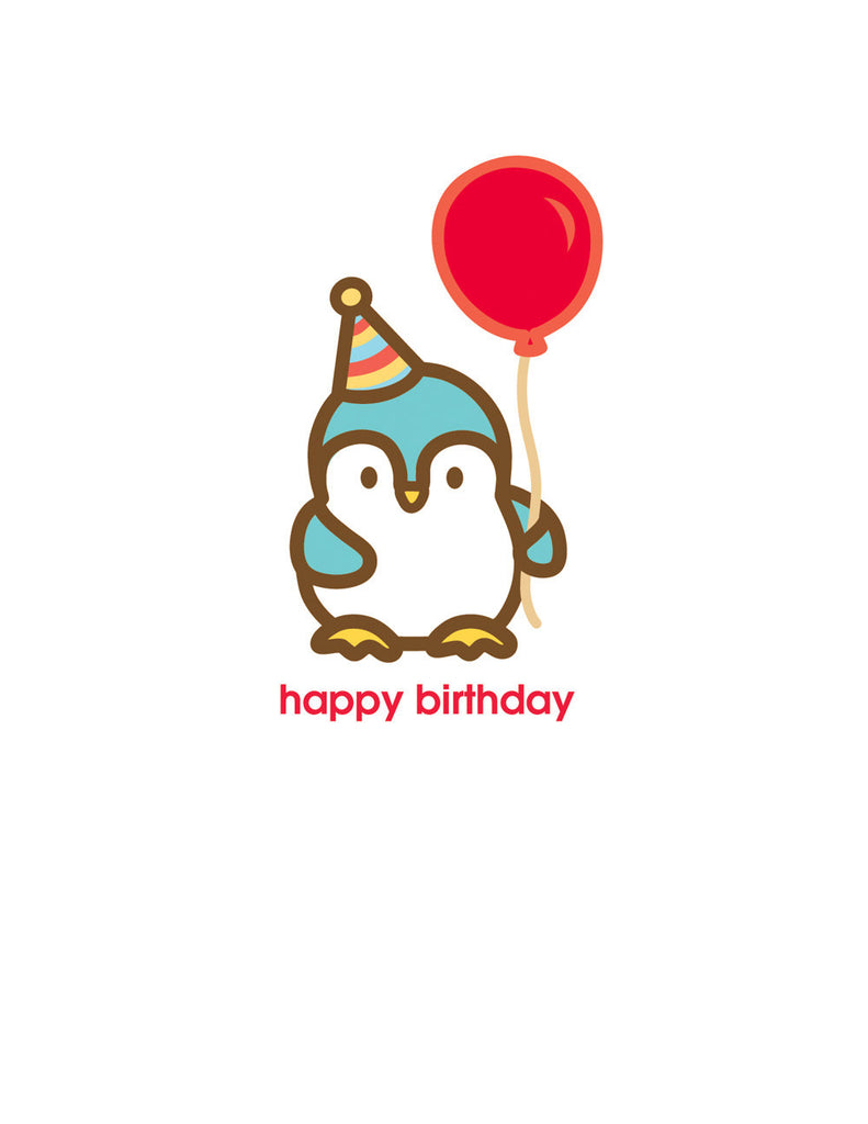 Penguin Birthday Card