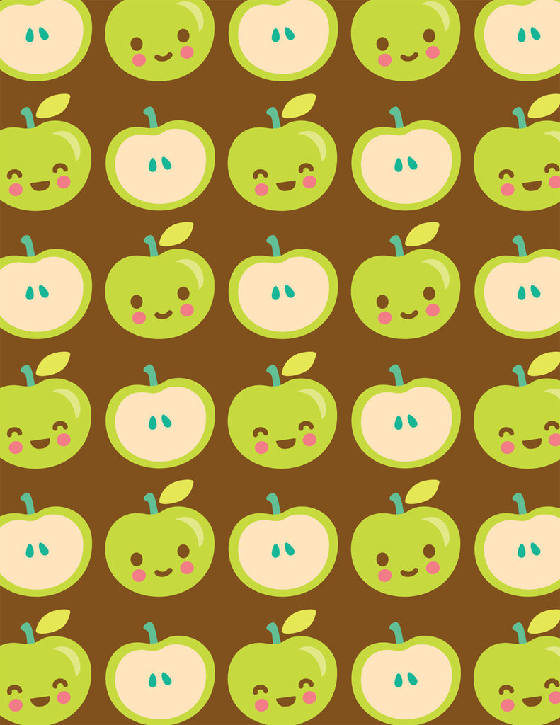 Happy Apples Note Card