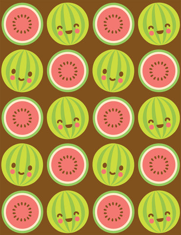 Happy Watermelons Note Card