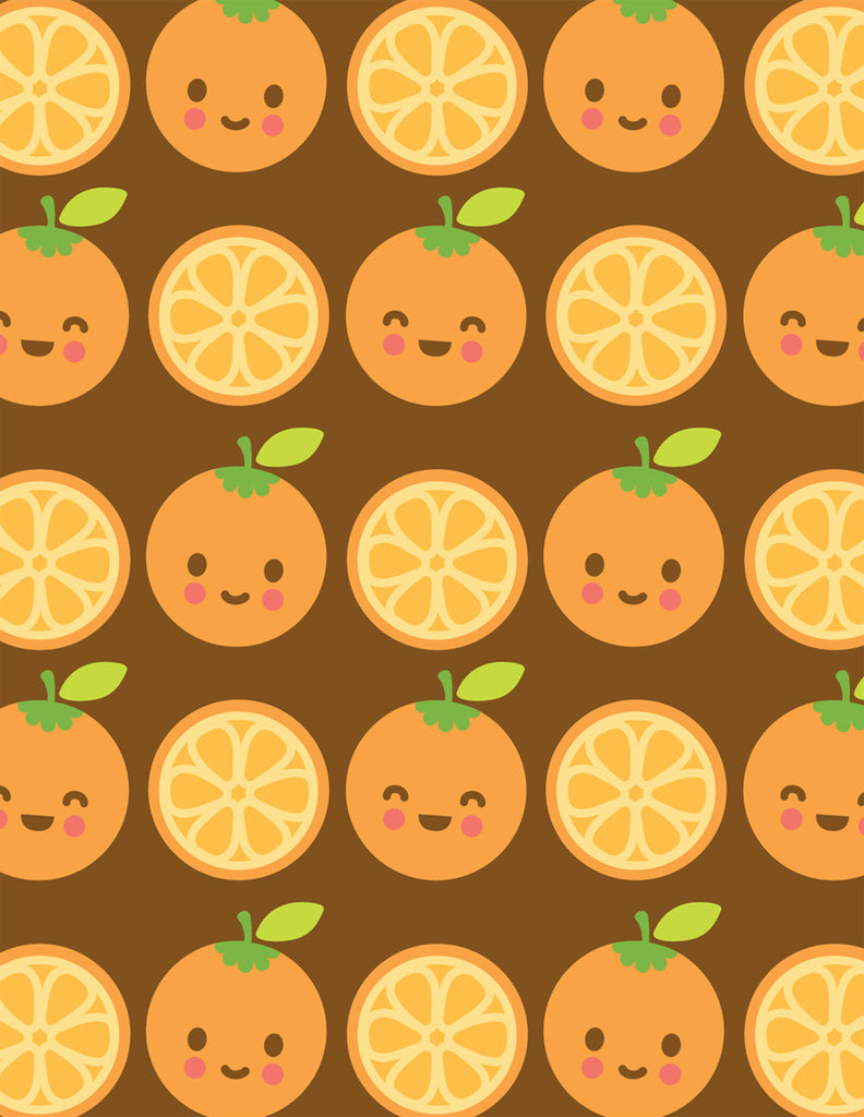 Happy Oranges Note Card