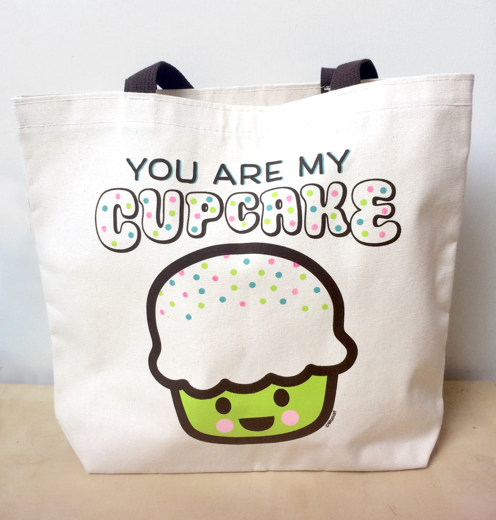 You Are My Cupcake Canvas Tote Bag