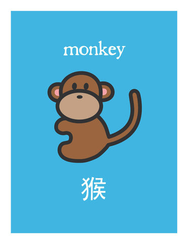 Zodiac Monkey Card