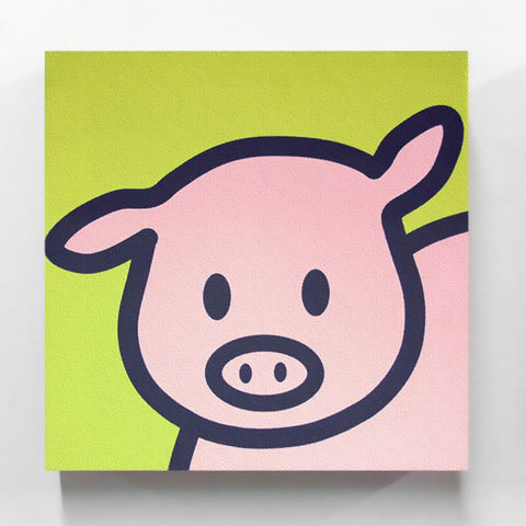 Gallery-Wrapped Zodiac Pig Canvas Print