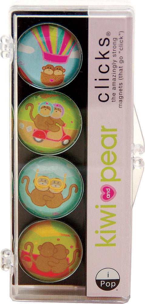 Kiwi and Pear Adventure 4-PC Magnet Set
