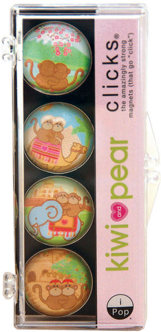 Kiwi and Pear Jetsetter 4-PC Magnet Set