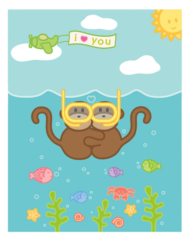 Kiwi and Pear Snorkeling Card