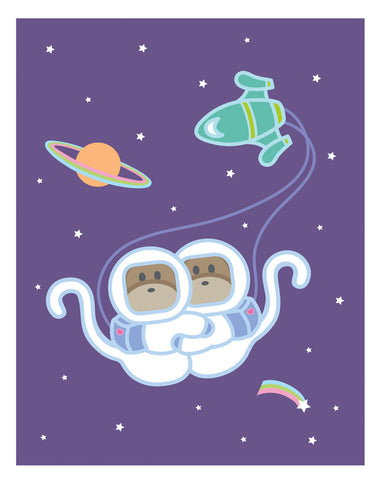 Kiwi and Pear Space Card