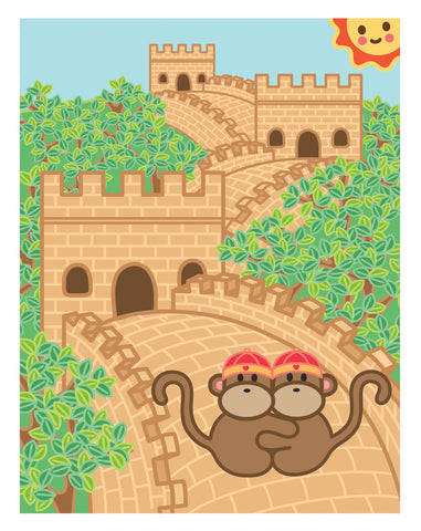 Kiwi and Pear in China Card