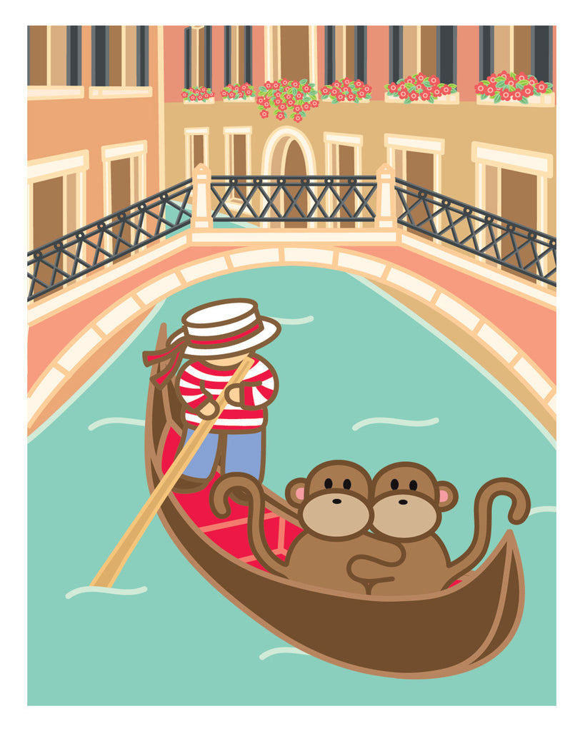 Kiwi and Pear in Venice Card