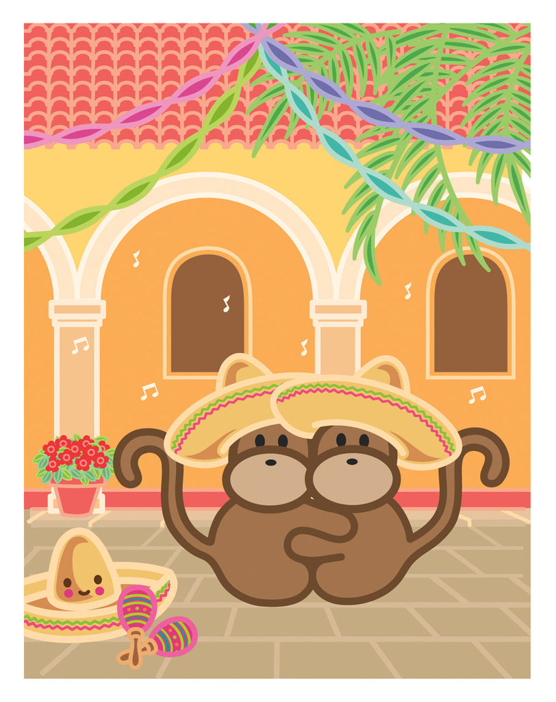 Kiwi and Pear in Mexico Card