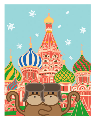 Kiwi and Pear in Russia Card