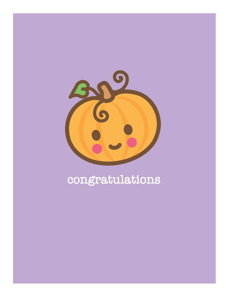 Pumpkin New Baby Card