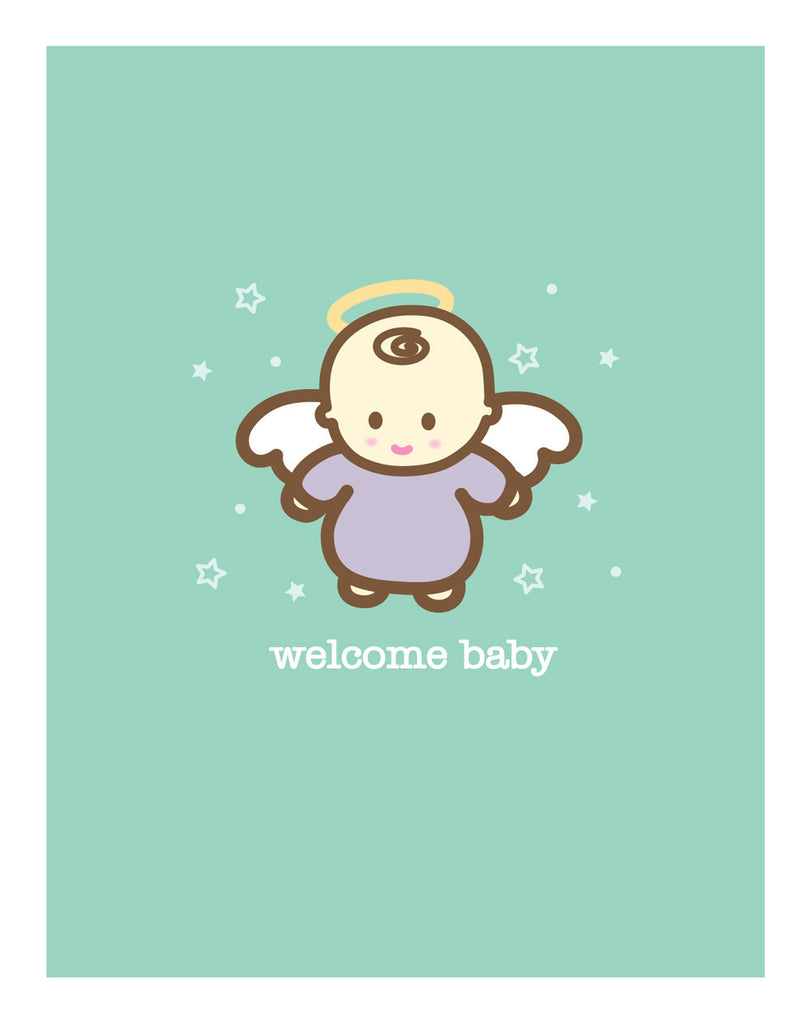 Angel New Baby Card