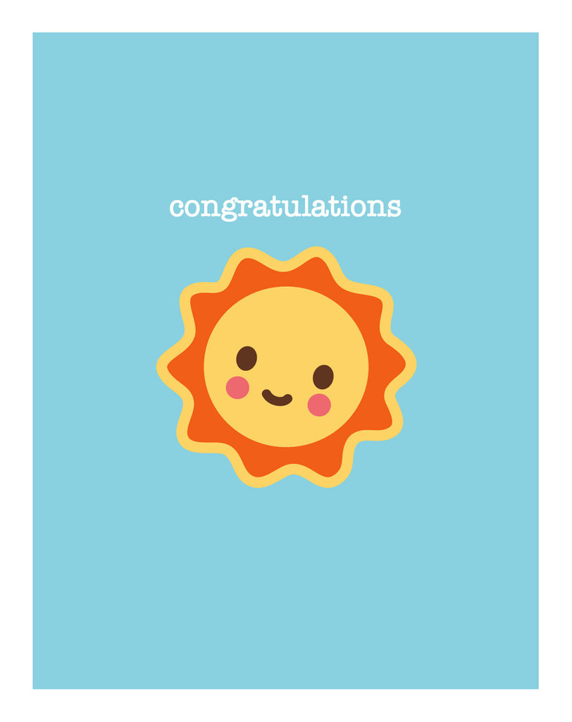 Sunshine New Baby Card