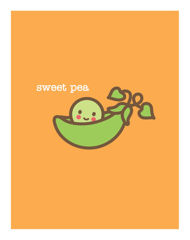 Sweet Pea New Baby Card