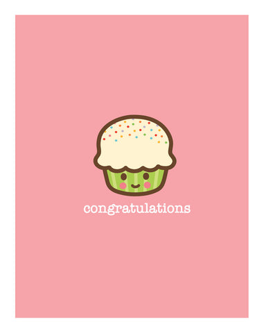 Cupcake New Baby Card