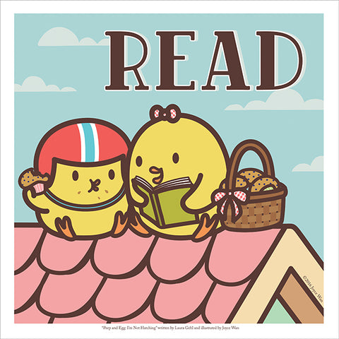 Art Print: Peep & Egg READ