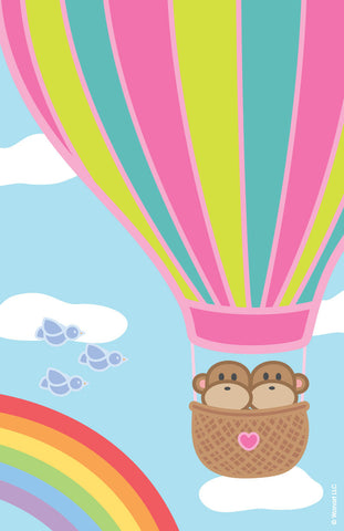 Print: Kiwi and Pear in Hot Air Balloon