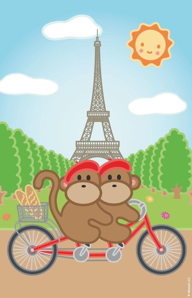 Art Print: Kiwi and Pear in Paris