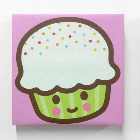 Gallery-Wrapped Cupcake Canvas Print