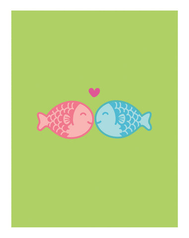 Kissing Fishies Card