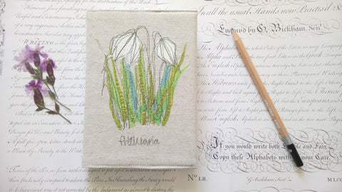 Embroidered Fritillary Winsor and Newton Sketchbook in gift box