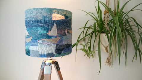 Boating Embroidered Lampshade