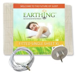 Earthing King Single Fitted Sheet