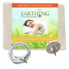 Earthing King Single Fitted Sheet Kit