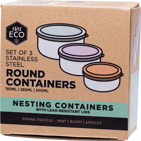 Ever Eco - Stainless Steel Round Containers