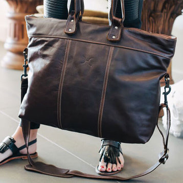 Woman's Leather Tote